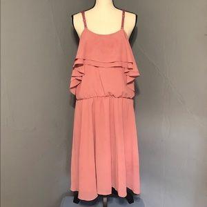 """Miami"" Rose color Apron Dress"